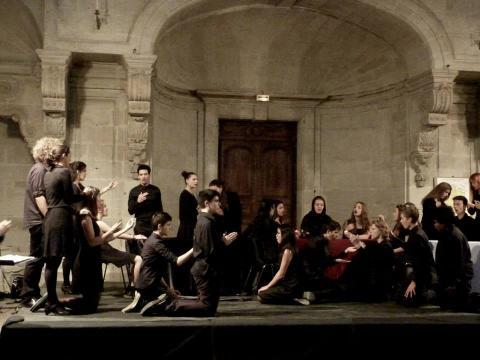 Singing in Lodève Cathedral